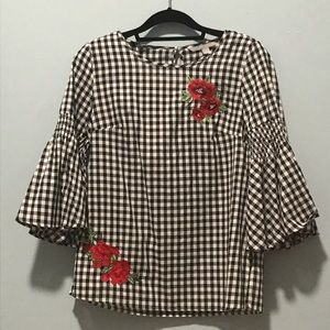Valerie Stephens bell sleeve blouse